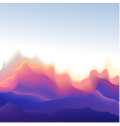 mountain shape wave background vector image