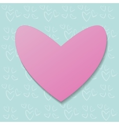 pink heart on a background pattern vector image vector image
