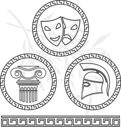 Stencils of hellenic images vector
