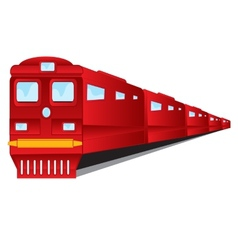 Train of the red colour on white background vector image vector image
