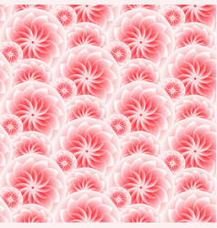 beautiful pink flower seamless pattern vector image vector image