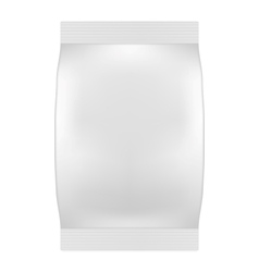 Blank White Bag Packaging For Wipes Tissues or vector image