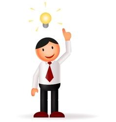Businessman cartoon and idea vector image vector image