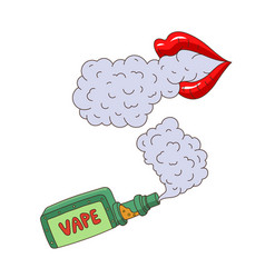 cartoon vaping objects concept set vector image vector image