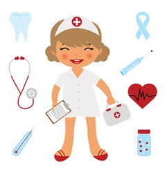 Cute doctor vector image vector image