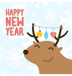 Happy new year postcard vector image vector image
