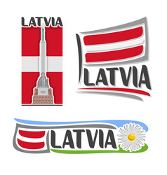 logo for latvia vector image vector image