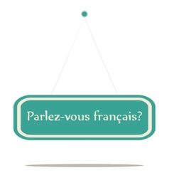 Parlez-vous franais vector image