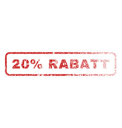 20 percent rabatt rubber stamp vector image