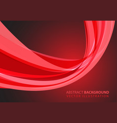 abstract red glass curve light design modern vector image