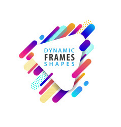 abstract triangle frames with dynamic shape vector image