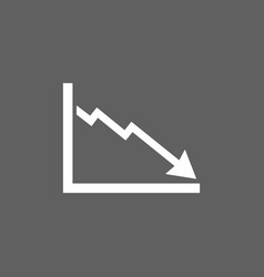 Bankruptcy chart icon on dark background vector