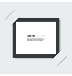 Black frame with a simple design of the background vector