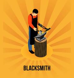 Blacksmith isometric concept vector