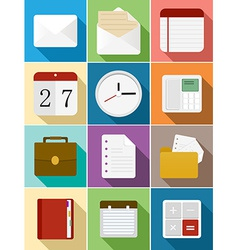 Business flat icons set design vector