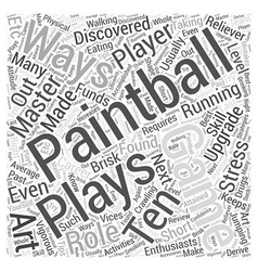 BWPB master playing paintball Word Cloud Concept vector