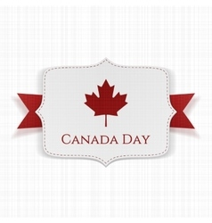 Canada Day patriotic Label with Ribbon vector image