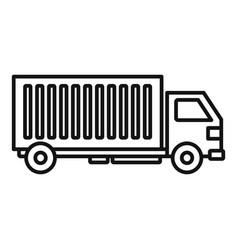 Cargo truck icon outline style vector