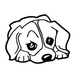 Cartoon of Funny Dog for Coloring Book vector