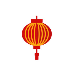 chinese new year lantern icon flat vector image
