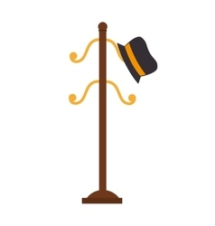 Coat rack hat cloathing icon graphic vector