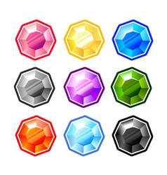 Colourful Round Diamonds vector
