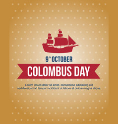 Columbus day celebration banner design vector