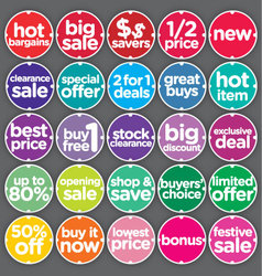 Complete Set Sales Promotion Labels vector image