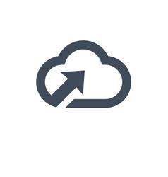 computer cloud storage upload information icon vector image