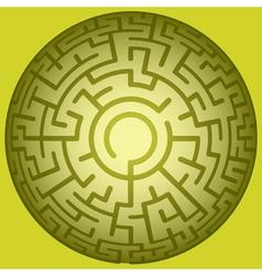Convex round maze vector
