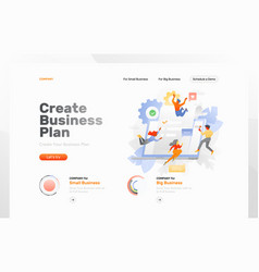Creating business plan web page vector