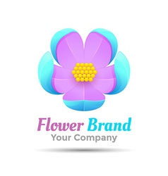 Creative abstract flower logo design Template for vector