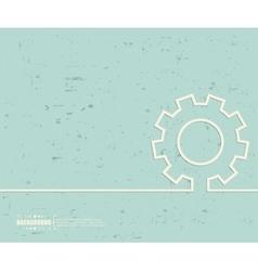 Creative gear wheel Art vector