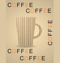 Cup mug hot drink coffee tea etc vector