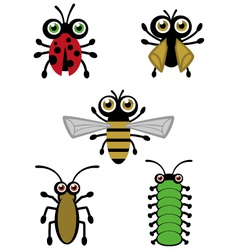 Cute Little Bugs vector image