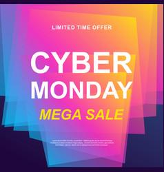 Cyber monday sale trendy web banner vector