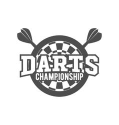 Darts label badge logo vector image