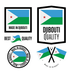djibouti quality label set for goods vector image