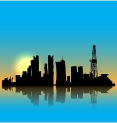 Doha silhouette skyline vector image