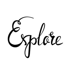 Explore card hand drawn positive quote vector