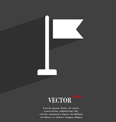 flag icon symbol Flat modern web design with long vector image