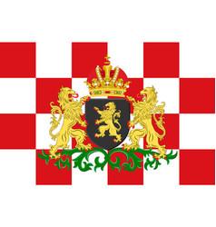 flag of north brabant netherlands vector image