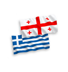 Flags greece and georgia on a white background vector