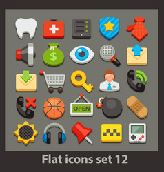 Flat icon-set 12 vector