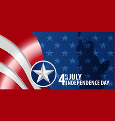 fourth of july independence day of the usa vector image