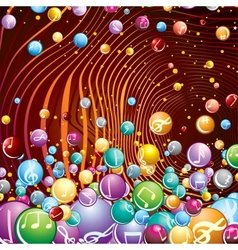 Funky Musical Background Image vector