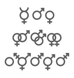 Gender symbols pack vector image
