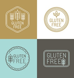 Gluten free badges vector