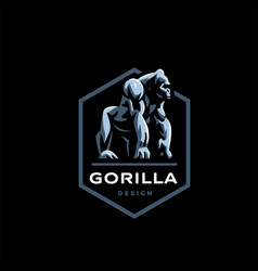 gorilla big monkey vector image