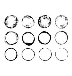 Grunge Round Frames vector